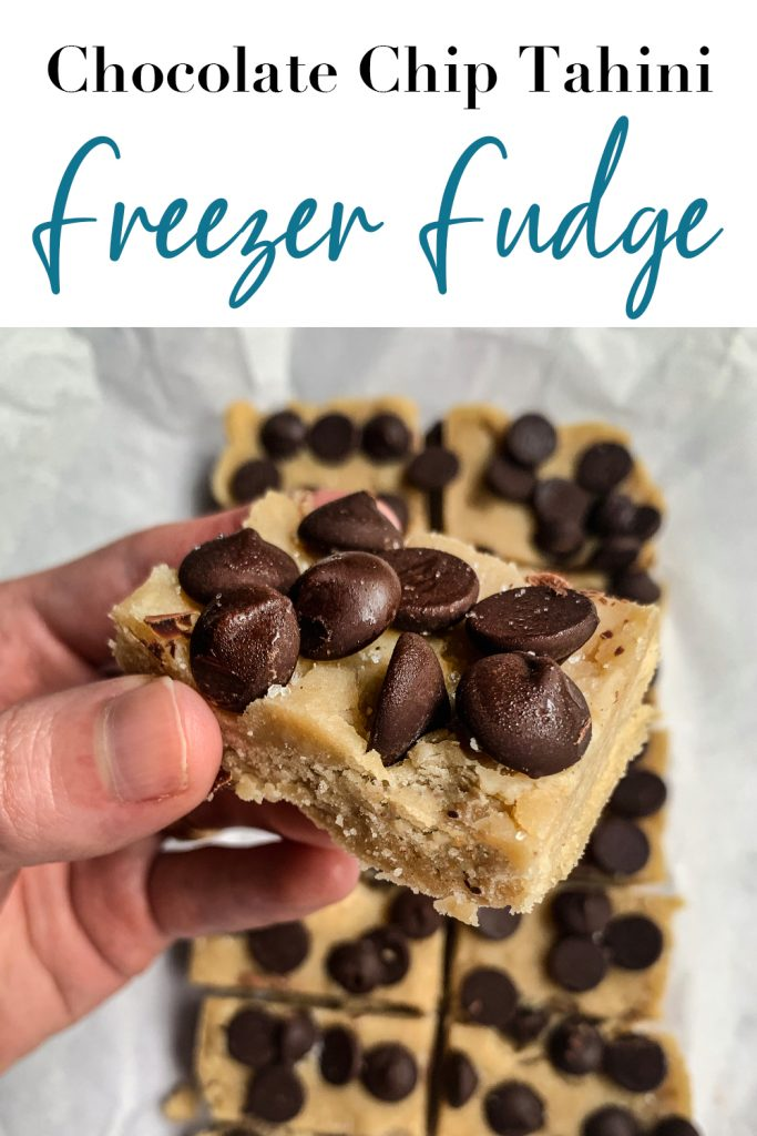 Chocolate Chip Tahini Freezer Fudge Pin