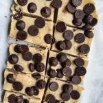 Chocolate Chip Tahini Freezer Fudge