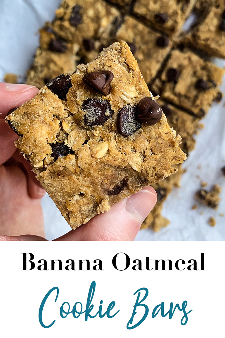 Banana Oatmeal Cookie Bars Pin