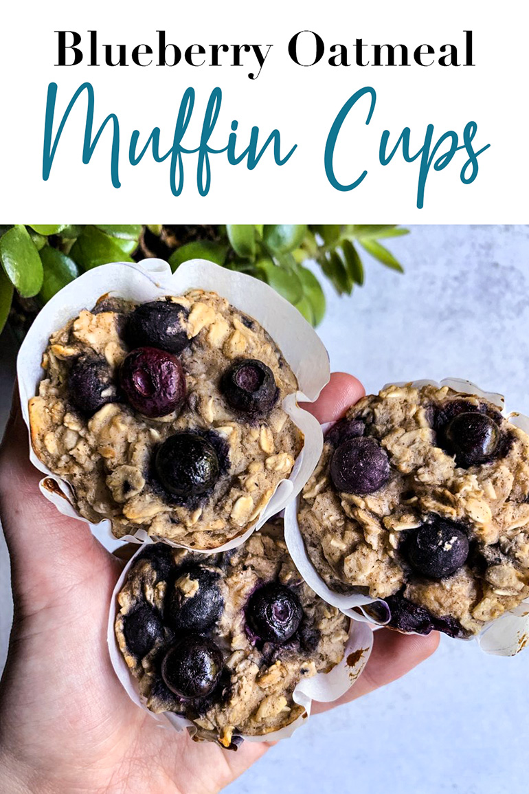 Blueberry Oatmeal Muffin Cups Pin