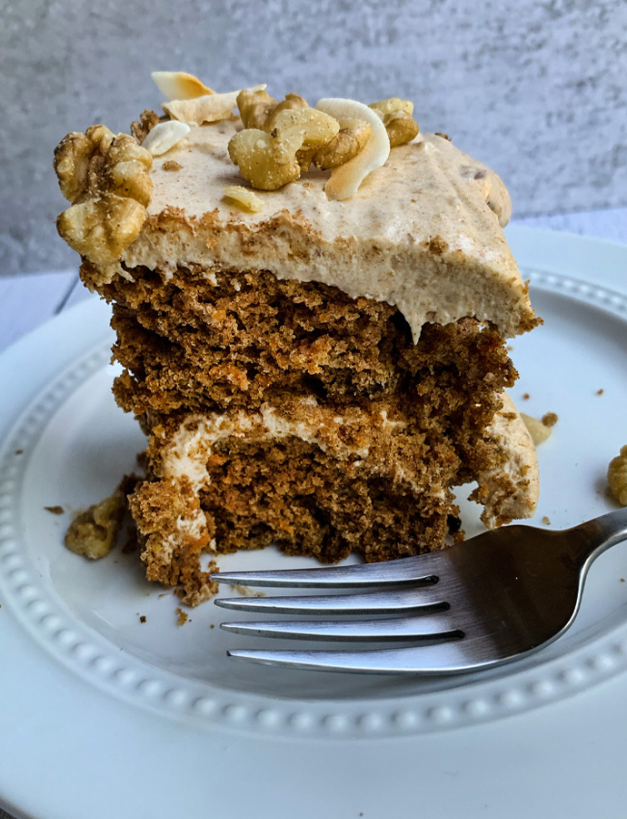 Carrot Cake (naturally sweetened, gluten-free)