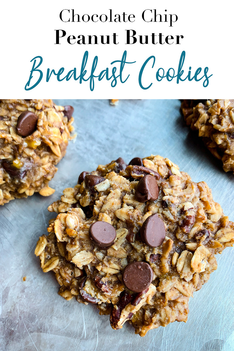 Chocolate Chip Peanut Butter Breakfast Cookies Pin