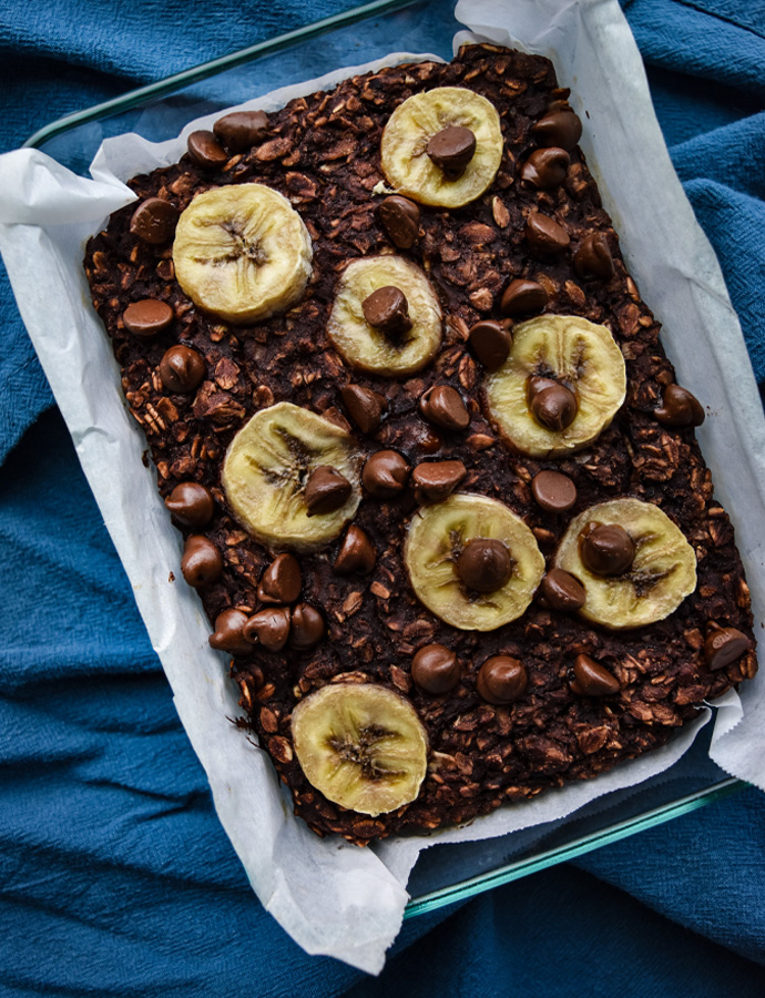 Double Chocolate Oatmeal Bake