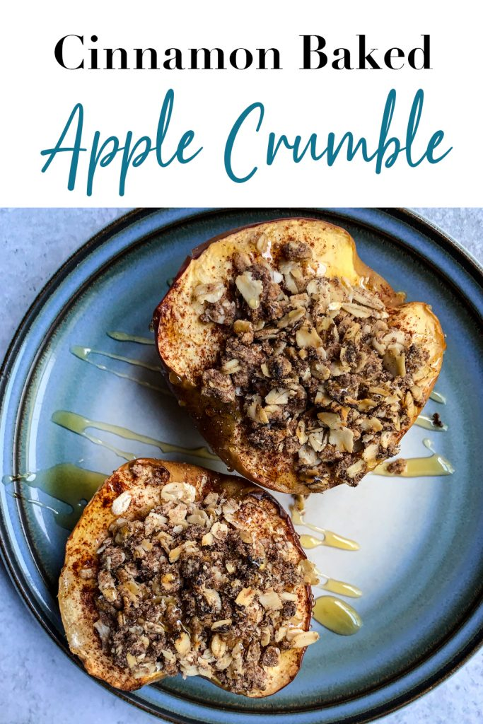Cinnamon Baked Apple Crumble Pin