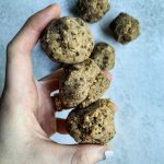 Hand holding Coconut Cacao Bliss Balls