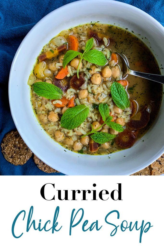 Curried Chickpea Soup Pin