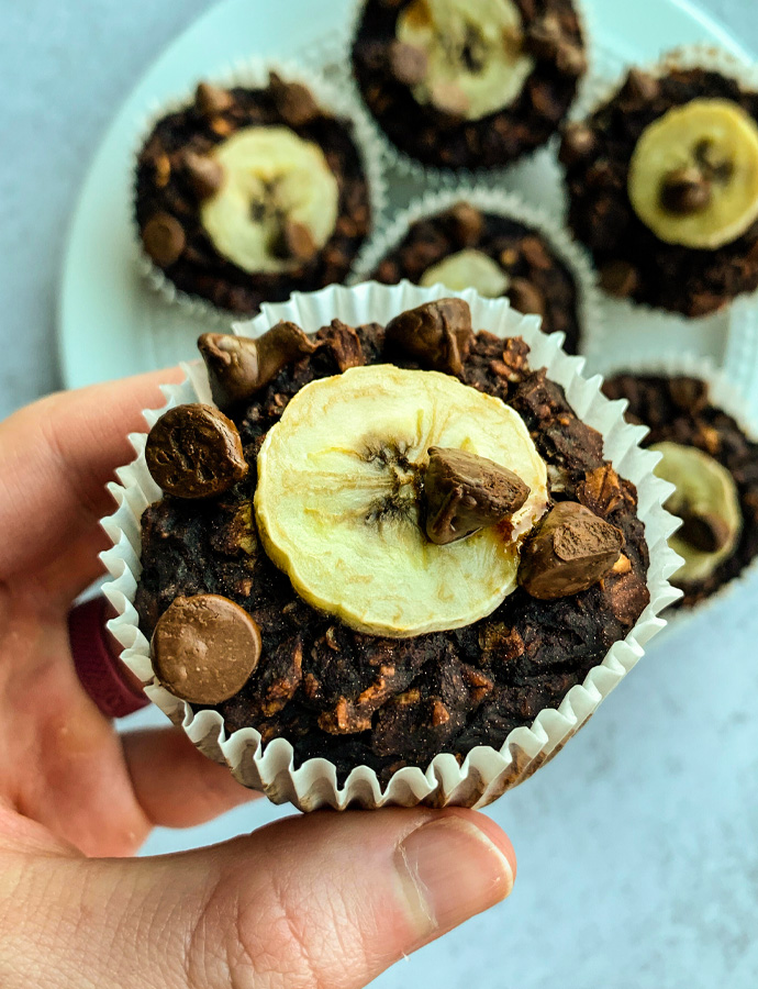 Double Chocolate Oatmeal Muffin Cups