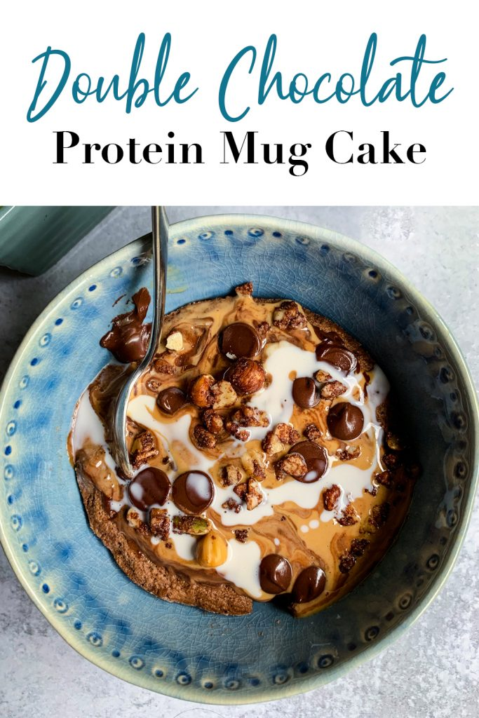 Double Chocolate Protein Mug Cake Pin