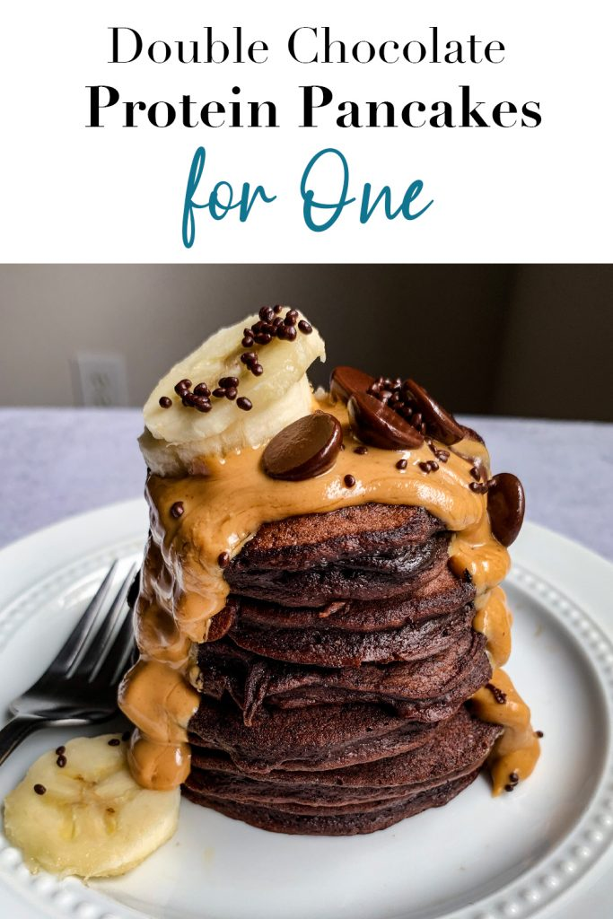 Double Chocolate Protein Pancakes for One Pin
