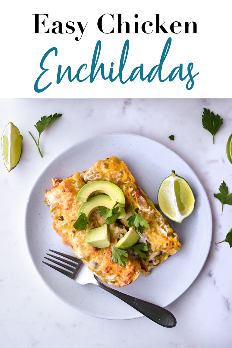 Easy Chicken Enchiladas pin