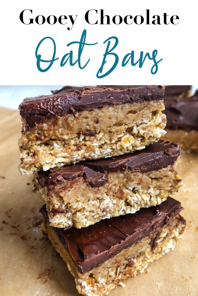 Gooey Chocolate Oat Bars Pin