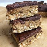Gooey Chocolate Oat Bars
