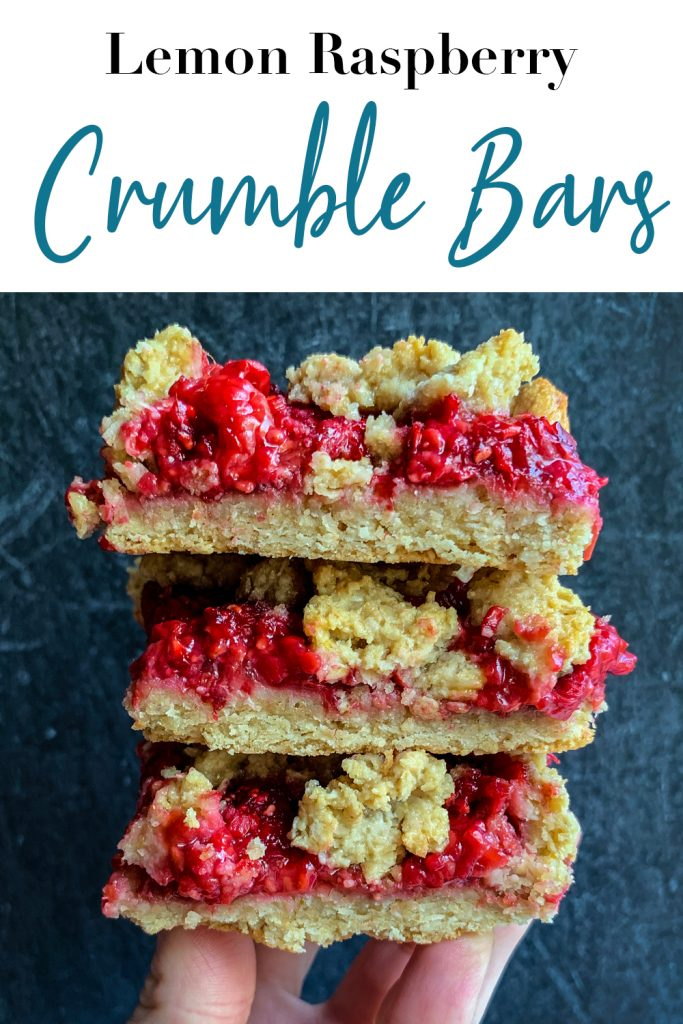 Lemon Raspberry Crumble Bars Pin