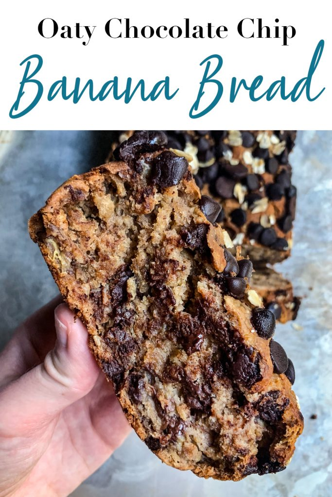 Oaty Chocolate Chip Banana Bread Pin