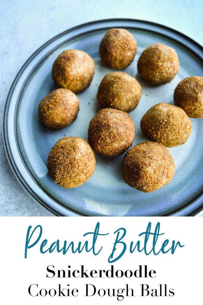Peanut Butter Snickerdoodle Cookie Dough Balls Pin