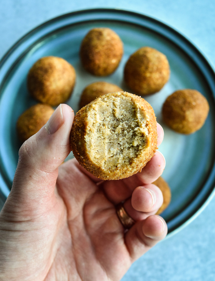 Peanut Butter Snickerdoodle Cookie Dough Balls