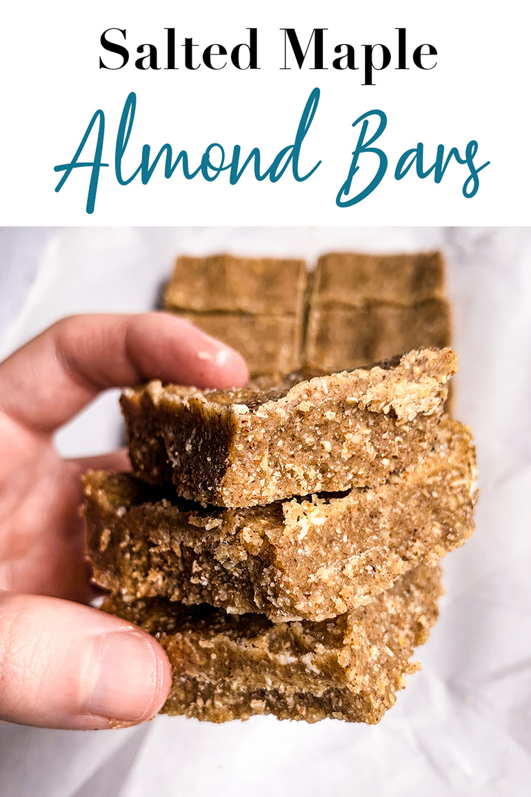 Salted Maple Almond Bars Pin