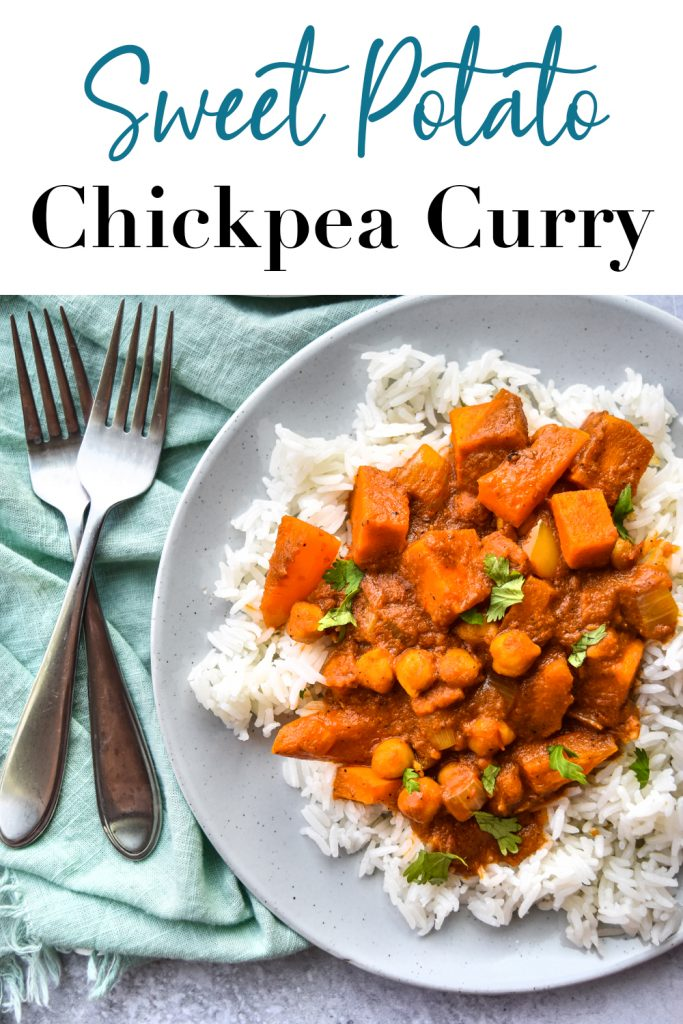 Sweet Potato Chickpea Curry Pin
