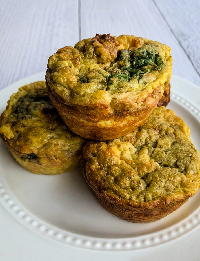 Pesto Sun Dried Tomato Egg Muffins