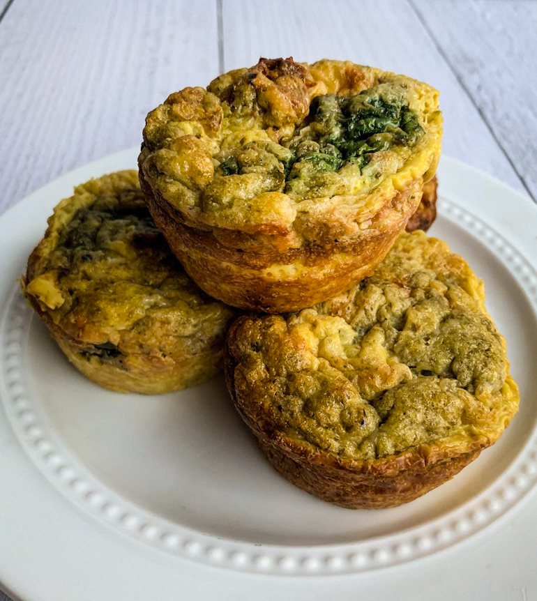 Egg Muffins on a white plate