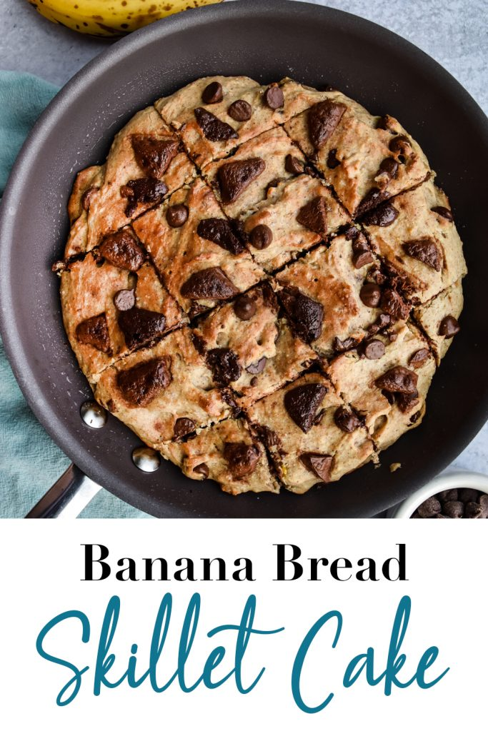 Banana Bread Skillet Cake Pin