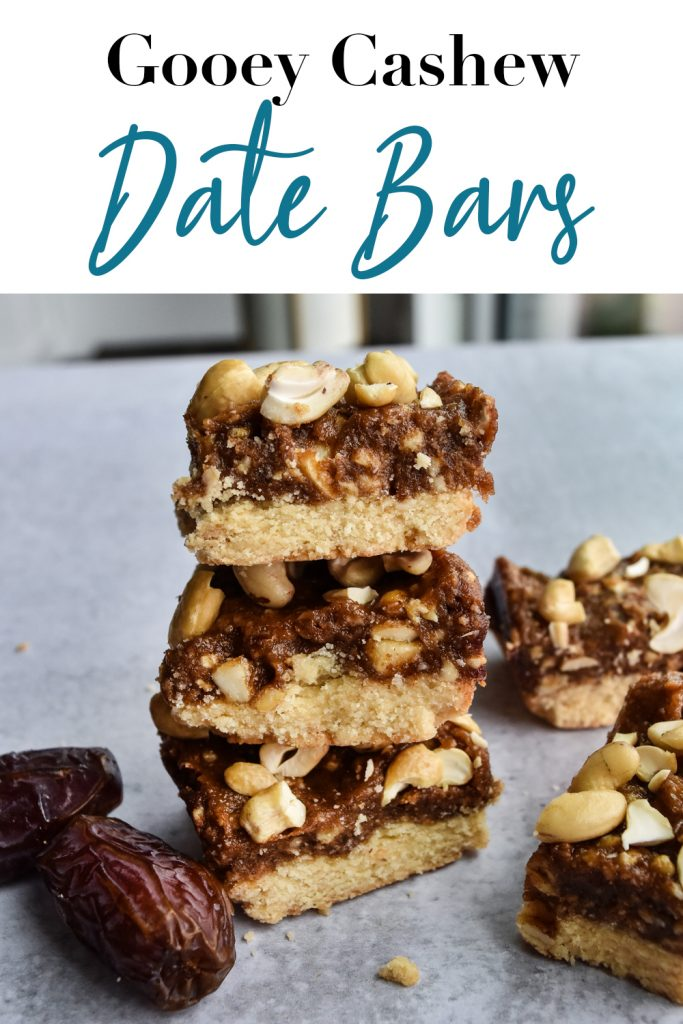 Gooey Cashew Date Bars Pin