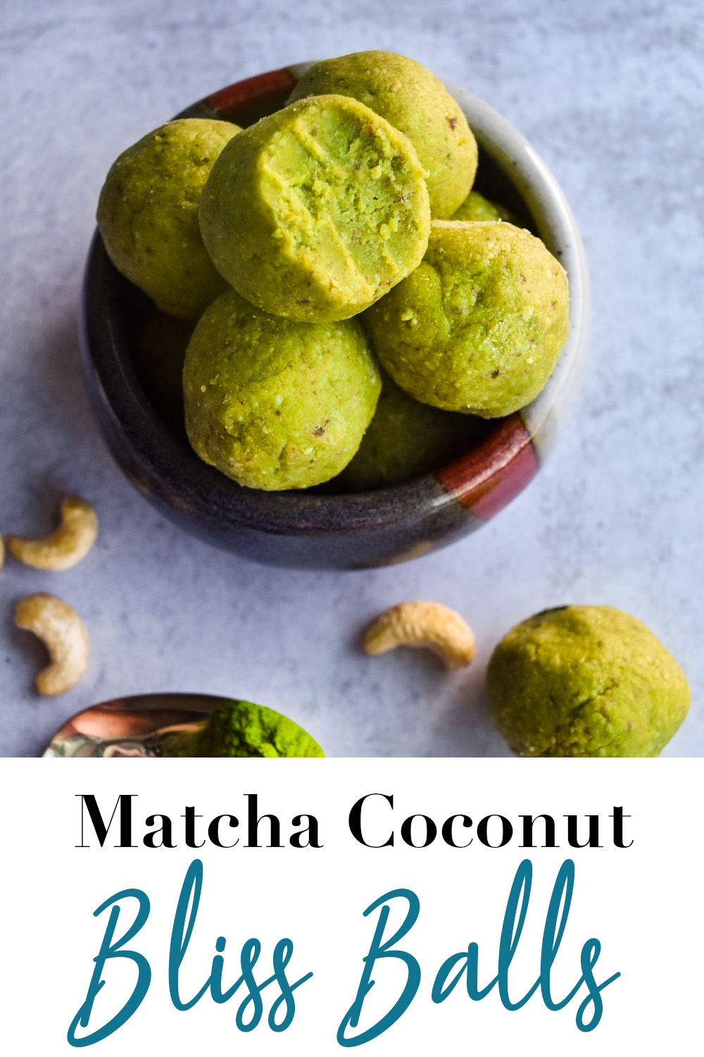 Matcha Coconut Bliss Balls Pin