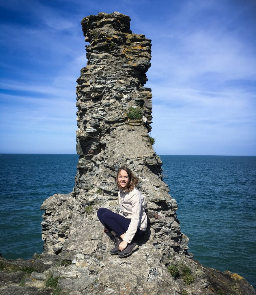 Me sitting on a rock in Ireland