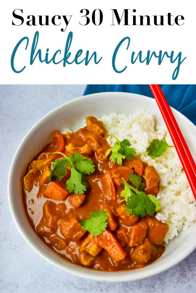 Saucy 30 Minute Chicken Curry Pin