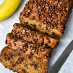 Banana Bread on parchment paper
