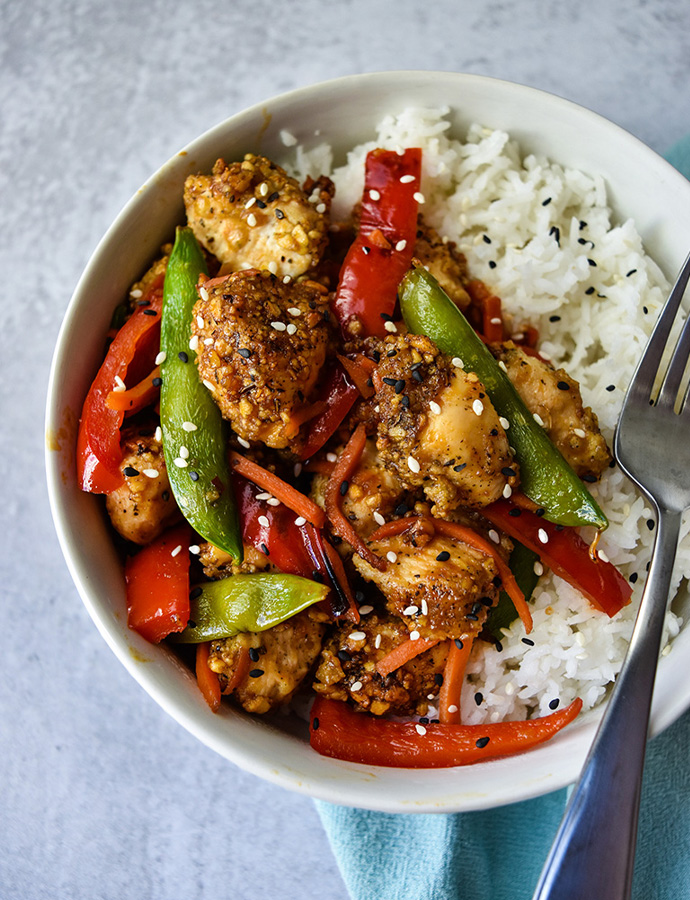 Crispy Chicken Stir Fry Serving Up Simplicity