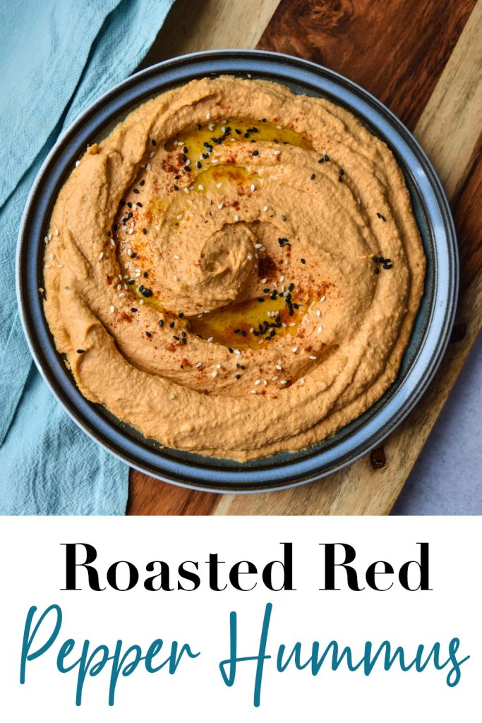 Roasted Red Pepper Hummus Pin