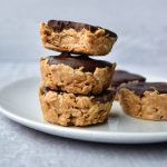 Peanut Butter Granola Cup on a white plate