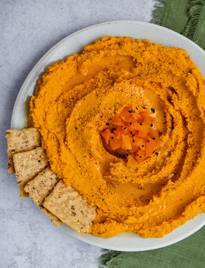 Spicy Apricot Carrot Hummus
