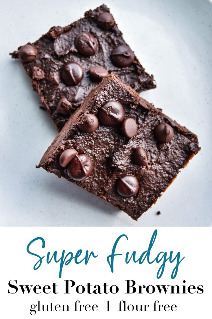 Super Fudgy Sweet Potato Brownies Pin