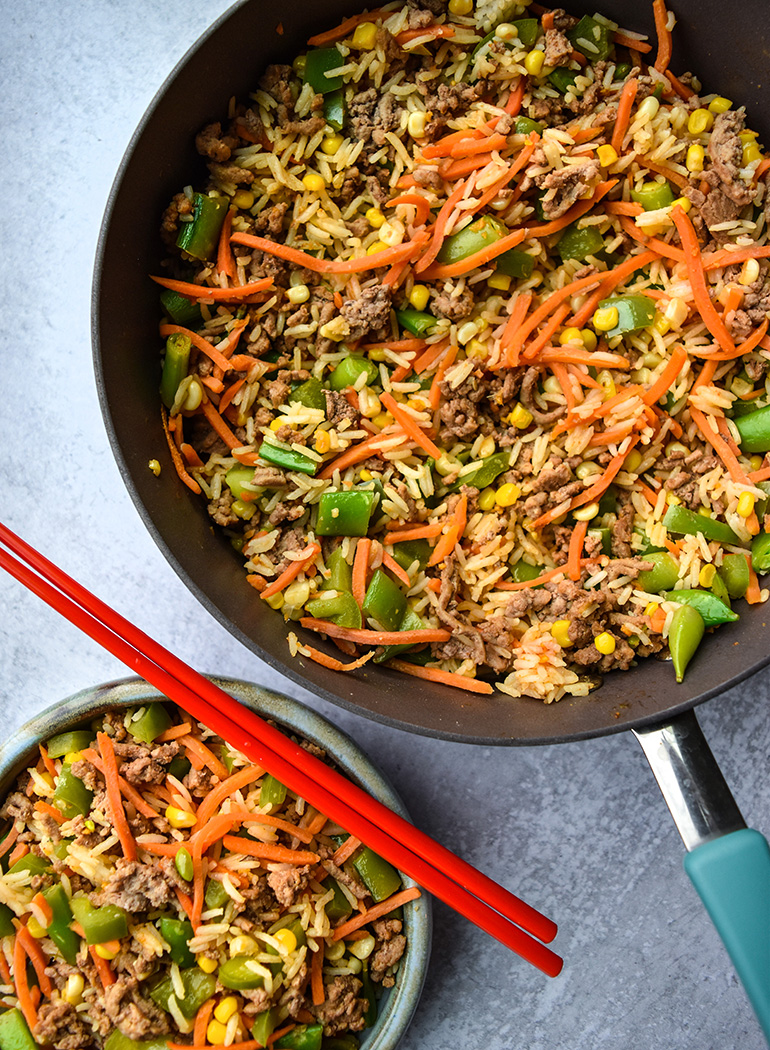 Inside Out-Egg roll in a pan
