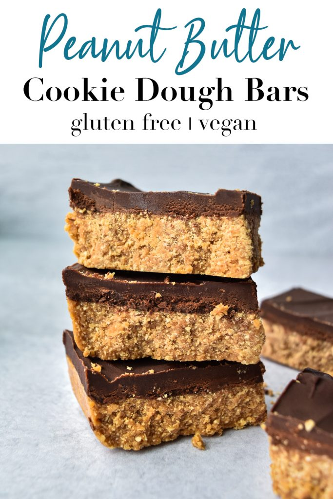 Peanut Butter Cookie Dough Bars Pin