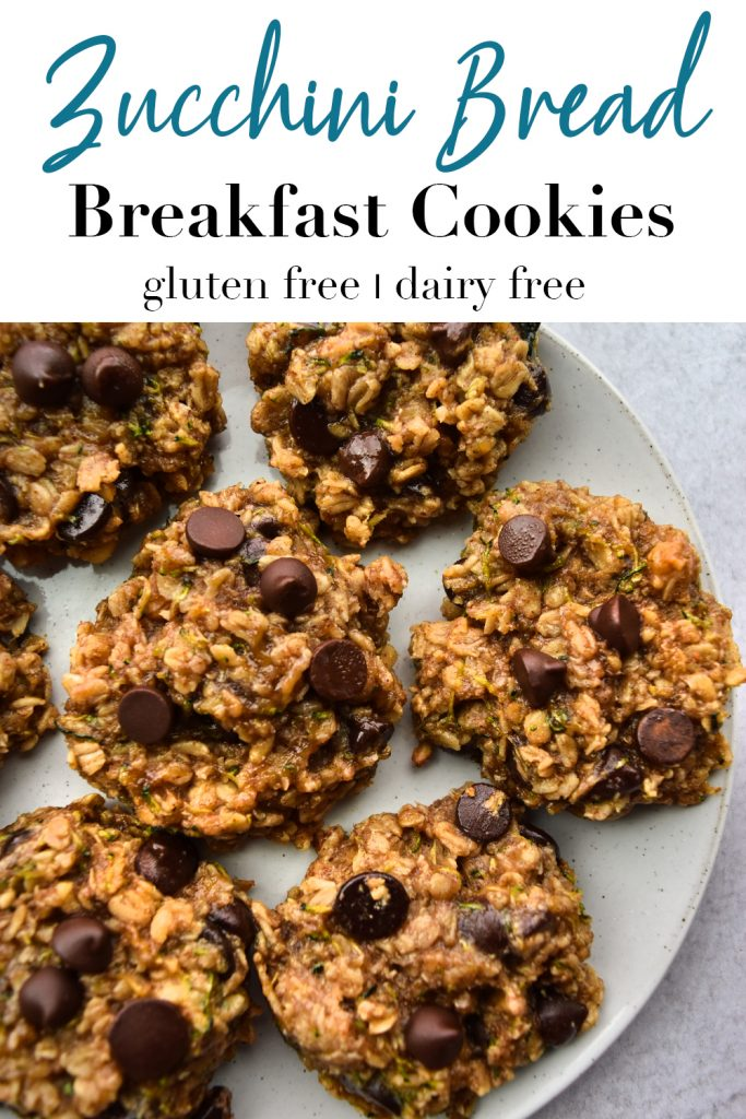 Zucchini Bread Breakfast Cookies Pin