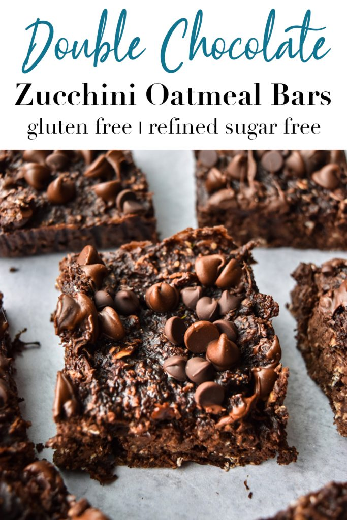 Double Chocolate Zucchini Oatmeal Bars Pin