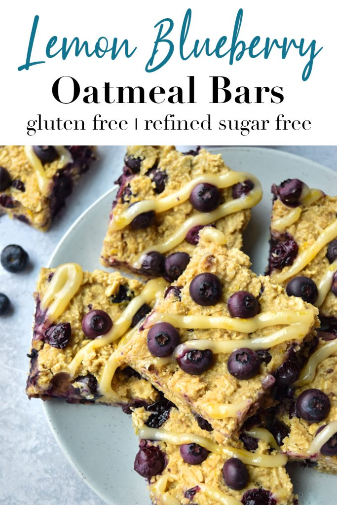 Lemon Blueberry Oatmeal Bars Pin