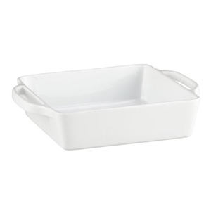 white baking dish