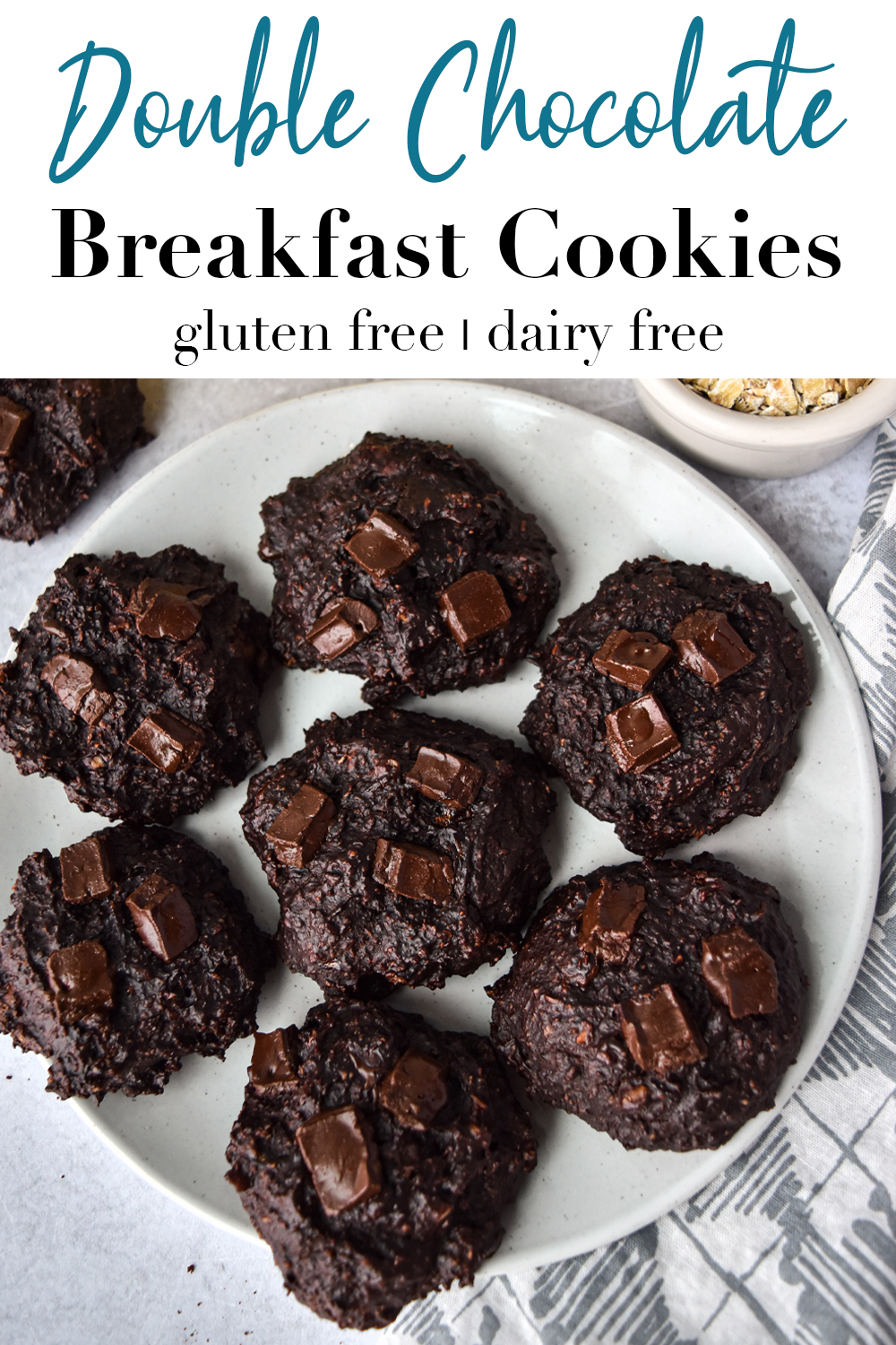 Double Chocolate Breakfast Cookies Pin