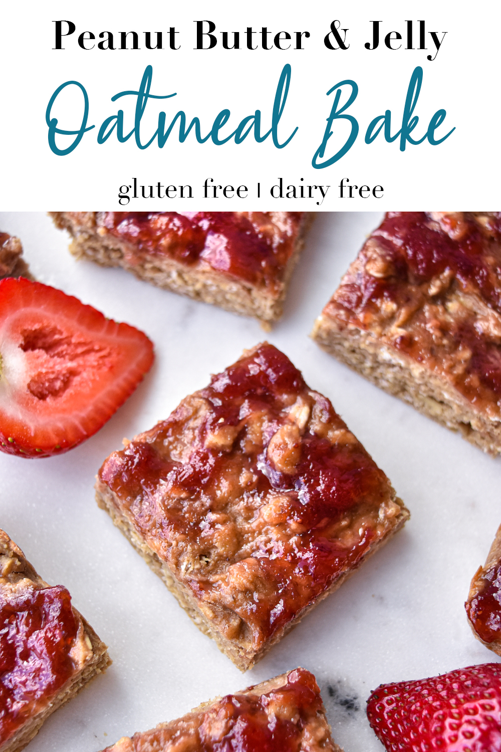 Peanut Butter & Jelly Oatmeal Bake pin