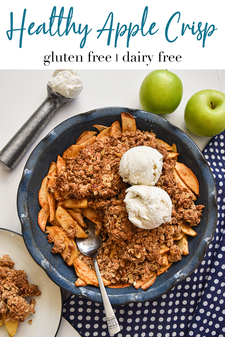Healthy Apple Crisp pin