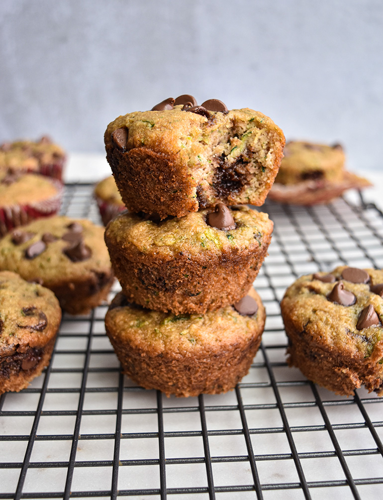 muffins in a stack