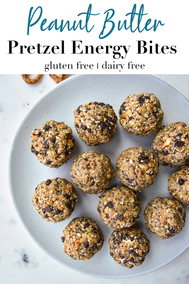 energy balls on a white plate