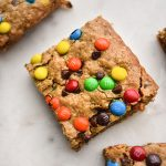 Healthy Monster Cookie Bars