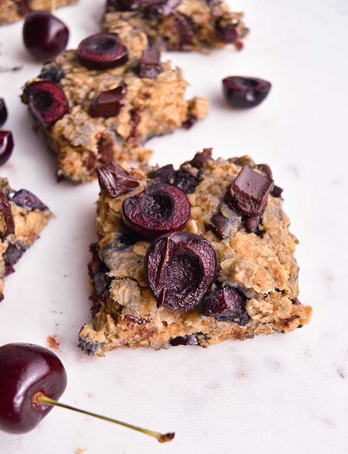 Cherry Chocolate Oatmeal Bars