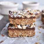 almond joy bars in a stack