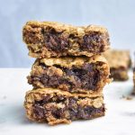 cookie bars in a stack